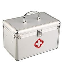 New Aluminium Alloy Tool Box Medical Storage Box With Interlayer Metal Edging 11 inch High-capacity New Sale(China (Mainland))