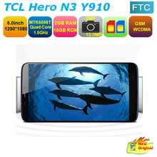 """Original TCL Hero N3 Y910 Quad Core Cellphone MTK6589T 6"""" 1920x1080px Android 4.2 Dual Camera 13.0MP 2GB RAM(China (Mainland))"""