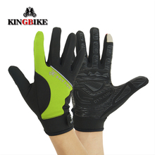 KINGBIKE Winter Cycling Gloves Full Finger unisex MTB Outdoor Bicycle Gloves Polyester Breathable Sports Bike Gloves