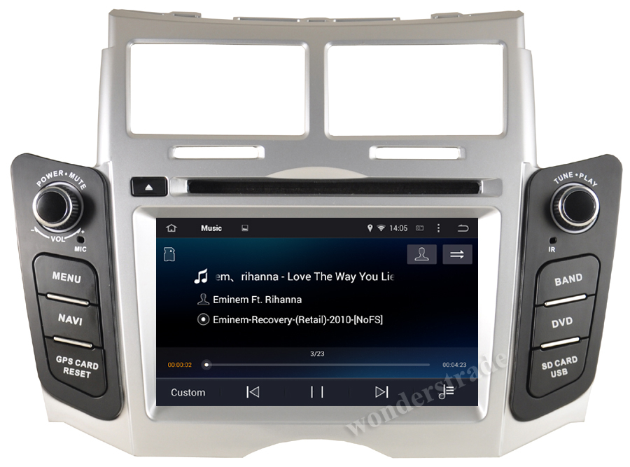 android 4 4 car dvd player radio stereo gps navigation for. Black Bedroom Furniture Sets. Home Design Ideas