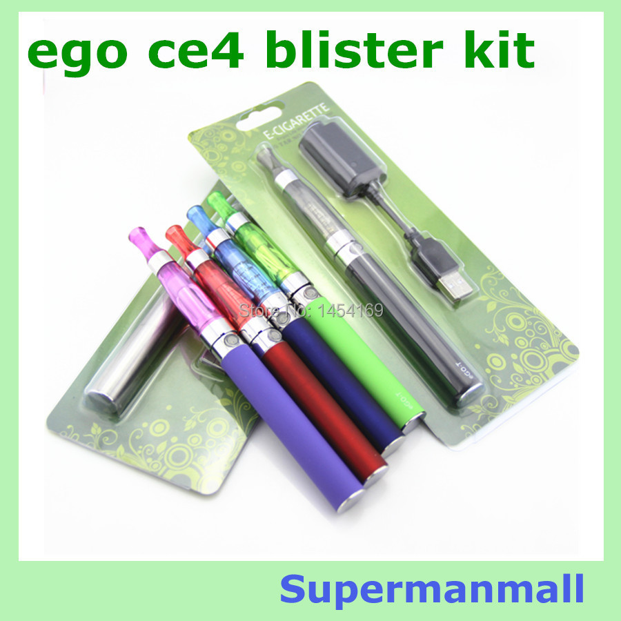 eGO CE4 Blister kits Electronic Cigarette ego ce4 ego ce5 with 650mah ~1100mah battery CE4 atomizer and charger evod mt3 ecig(China (Mainland))