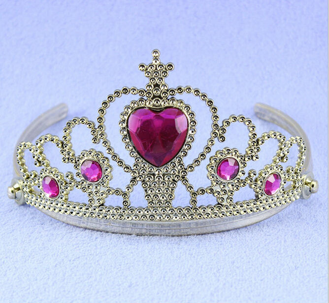 It is a princess tiara crown with rhinestones decorated, which looks very beautiful and chic. - Perfect for wedding flower girls decoration. - High quality with sturdy construction for durable and rep.