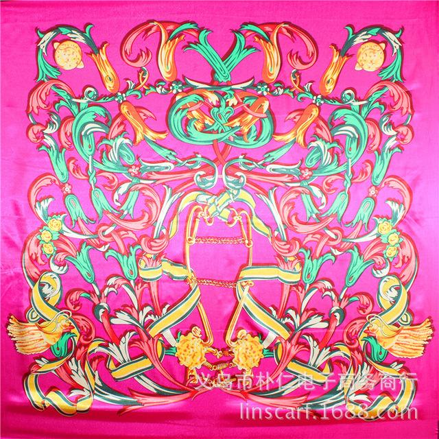 90 см * 90 см бесплатная доставка оптовая продажа новые продукты горячая распродажа шифон цветок длинный мягкий шелковый район шарфа шаль украл для женщин