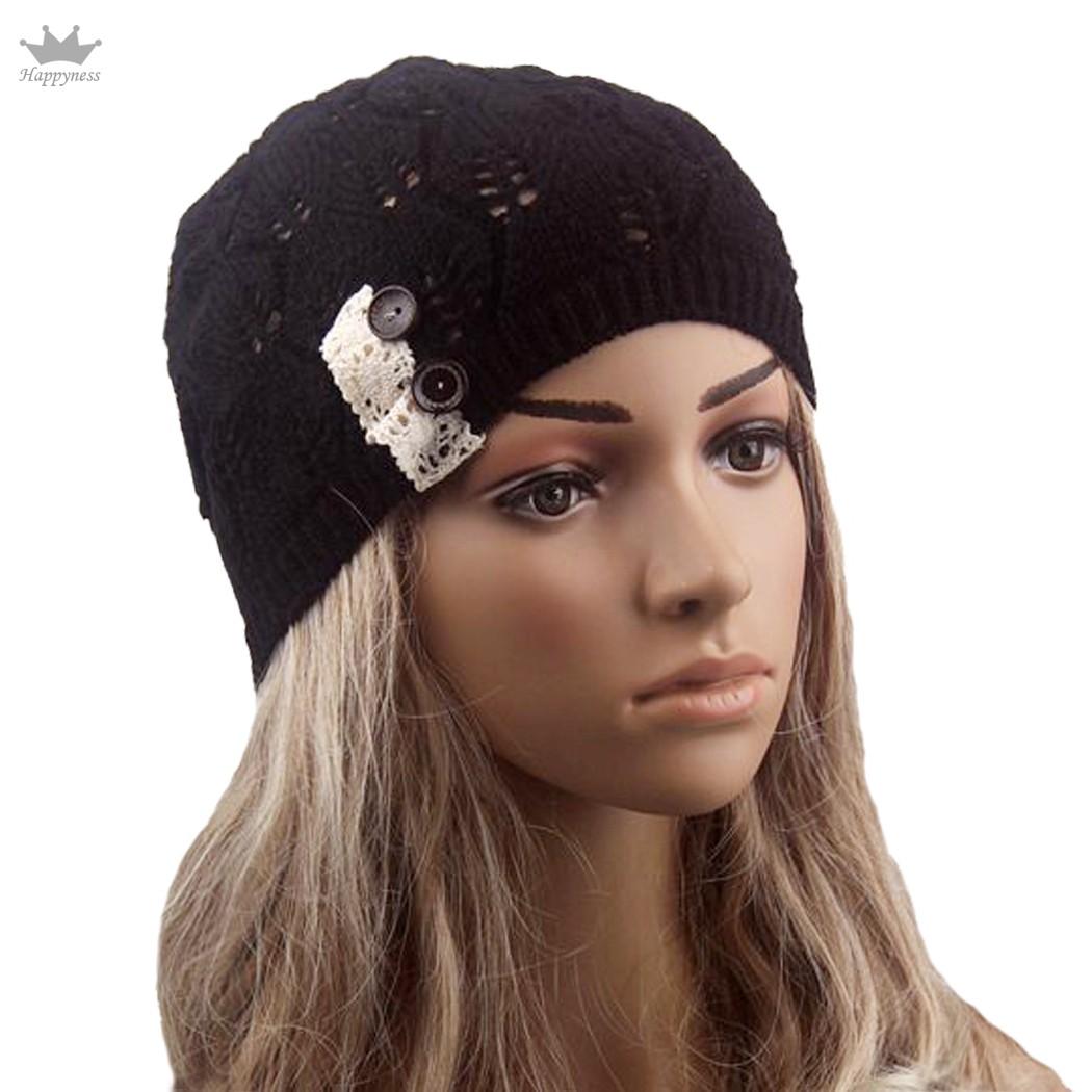 hat autumn winter wool beanie knit crochet warm hat