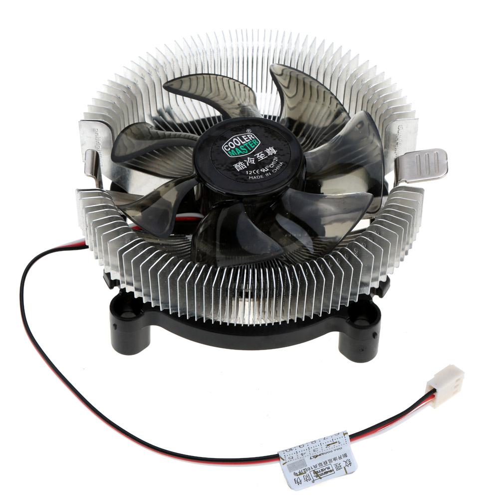 100% Original Cooler Master Ultra Silent 7 Blades Computer PC Desktop CPU Cooling Fan Cooler Heatsink Radiator for AMD Intel CPU(China (Mainland))