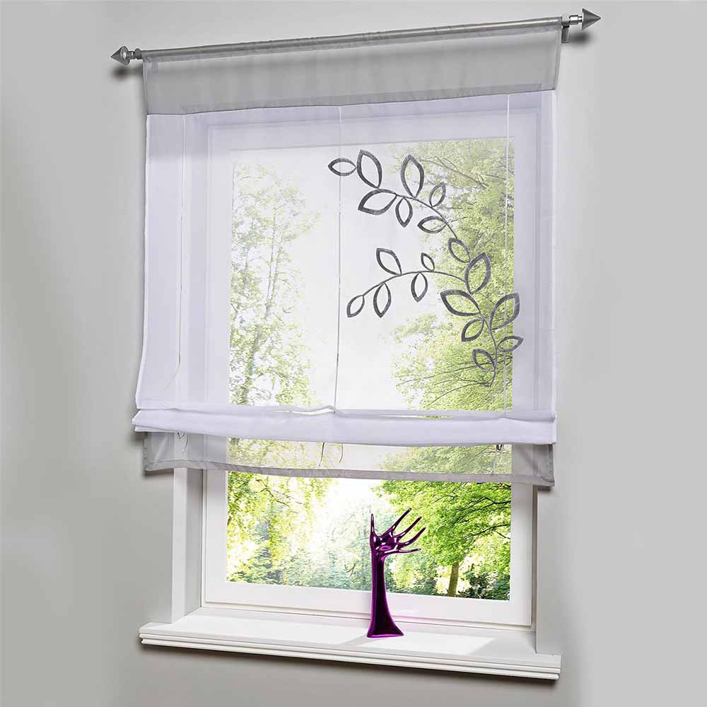 Hot sales embroider voile curtains short curtains for for Decoration fenetre ikea