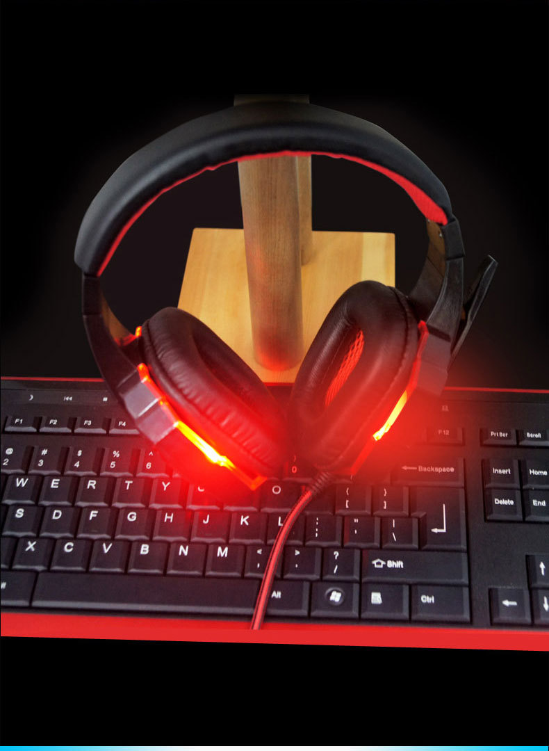 2016 Brand Gaming Headset Over-ear PLEXTONE PC780 Game Headphone Earphone Headband with Mic USB LED Light for PC Gamers