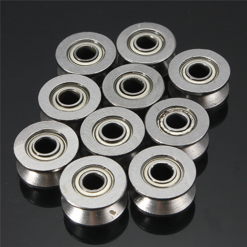 Newest 10pcs VGroved Wire Guide Pulley Wheels Roller 4mm High Carbon Steel Ball Bearing Low Price(China (Mainland))