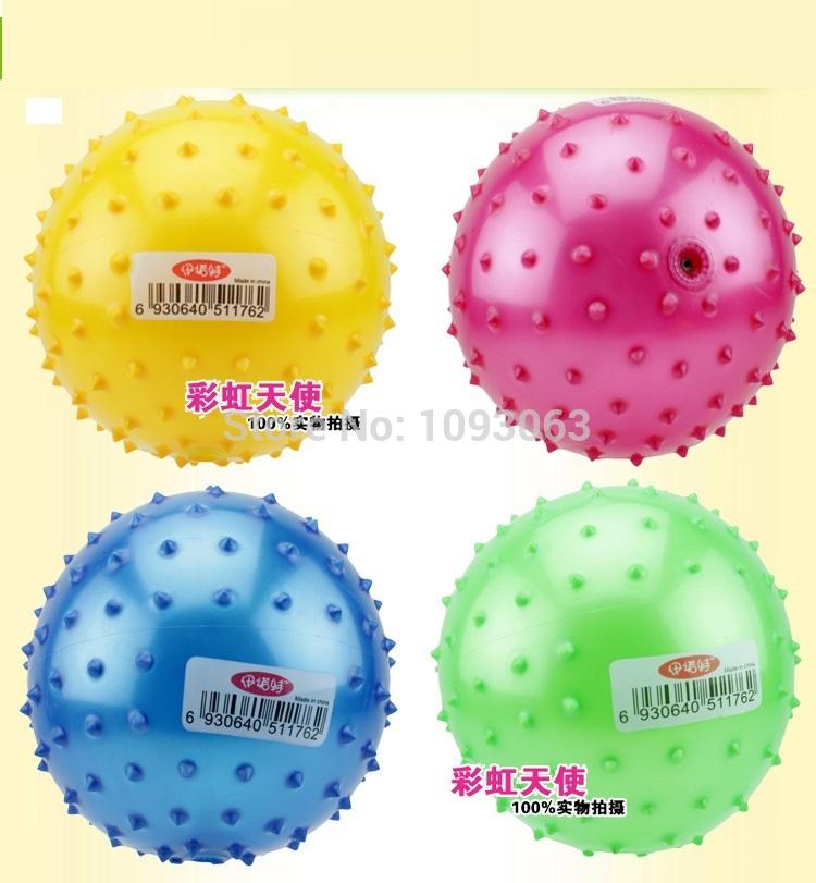 Pack of 4 Tactile Spikey Air Balls Massage PVC Sensory Crawling Training Toddler Inflatable(China (Mainland))