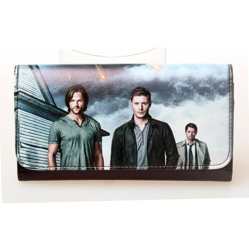 Supernatural Sam and dean Winchester brothers showed signs NWT permission Long wallet DFT-1386(China (Mainland))