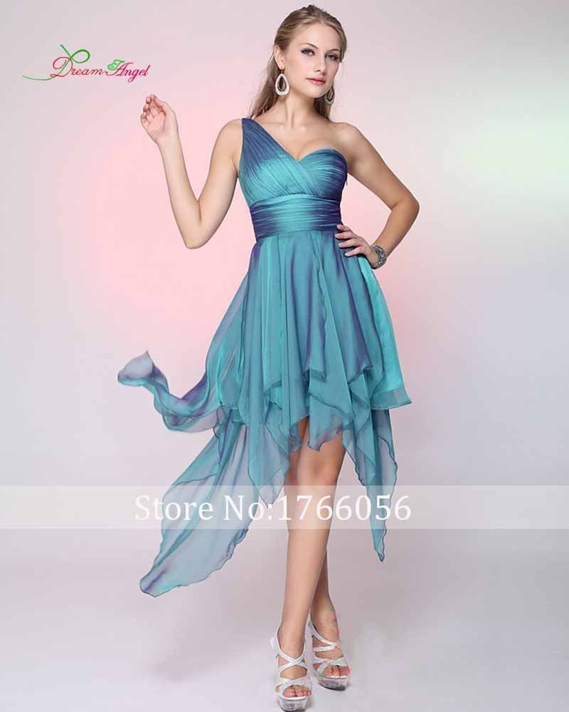 Hot Sale Natural 2015 New Asymmetrical Pleat Spring Summer Vestidos One Shoulder Blues Sweetheart Sexy A Line Homecoming Dress(China (Mainland))