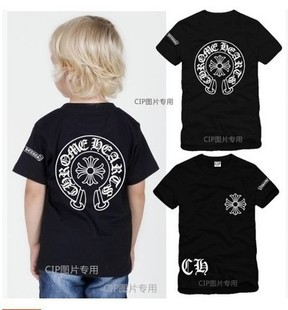 2015 boy girl baby young boys girls parents big tide brand cotton short sleeve T-shirt children's clothes cool