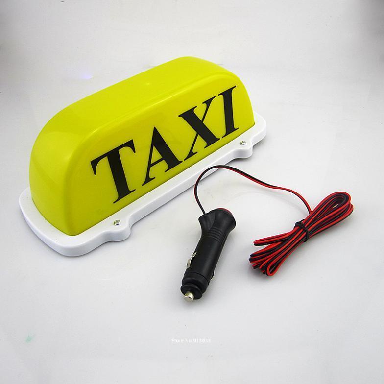 Taxi Light, Yellow, Magnetic, 12 Volt, Cab, Hackney NY Checker light up(China (Mainland))