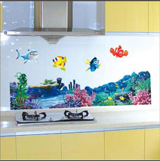 Free shipping finding nemo bathroom nursery kids mural art - Finding nemo bathroom sets ...