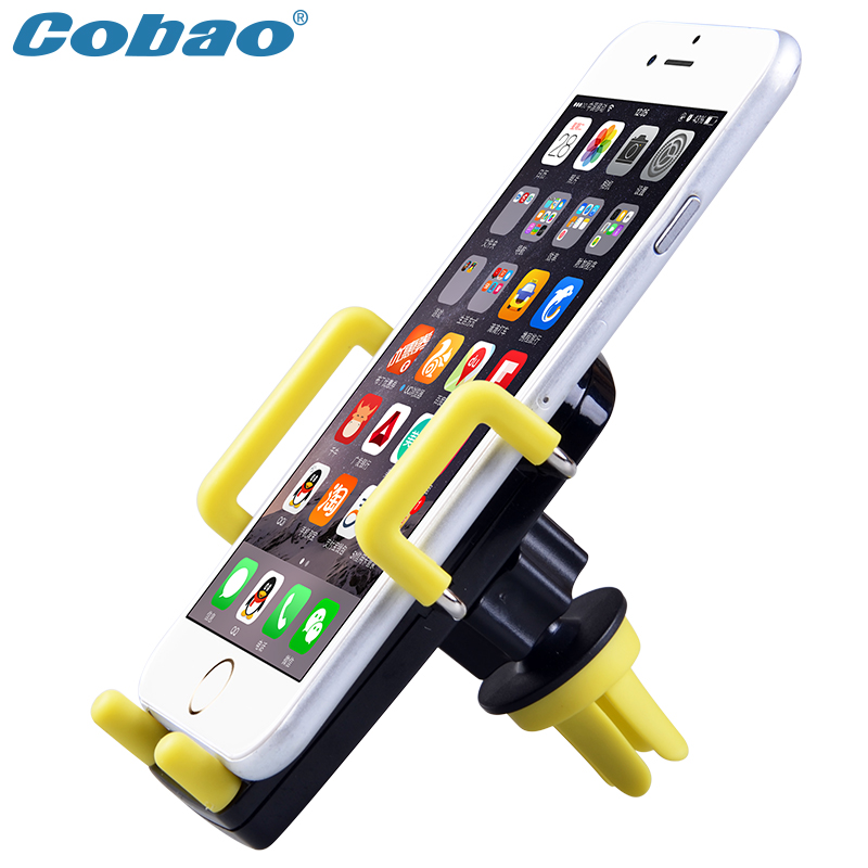 Universal car phone holder stand Cobao brand air vent smartphone car holder for Iphone 5S 6 6S plus samsung s5 s6 s7 Note 3 4 5(China (Mainland))