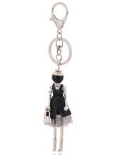 Llaveros de moda envío gratis nuevo llavero de muñeca Linda y llavero bolso dijes colgante de coche para mujer bolso de mano(China)