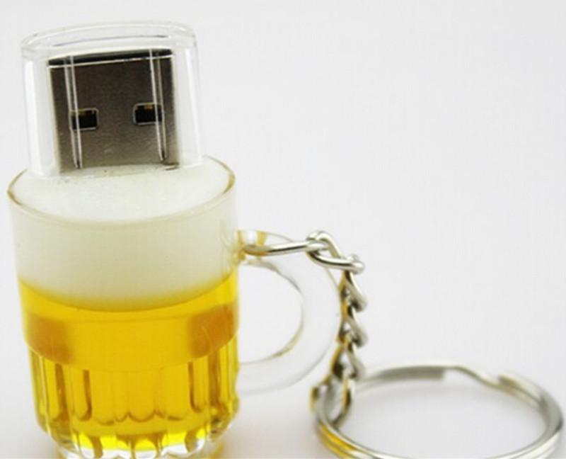 100%real capacity pen drive cartoon beer Bottle Can usb flash drive 4gb 8gb 16gb 32gb 64gb pendrive memory USB stick(China (Mainland))