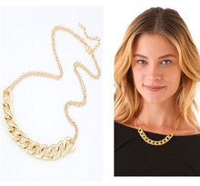 Fashion Gold Short Necklaces Chain for Women Punk Collier Colares Femininos Jewelry Bijoux 2014 Dress Accessories