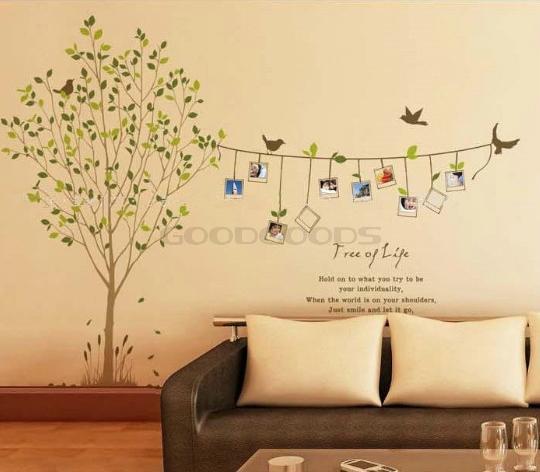 New 2015 diy wall sticker mural home art decor cartoon for Diy tree wall mural