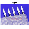 10pcs Mini PCB wood drill Bits Tungsten Steel Carbide PCB CNC drill Bit Milling Machine tools
