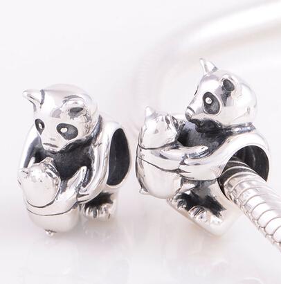 Панда подвески античная окисленных серебряный готовые тон подходит для европейских браслеты шарма SC73