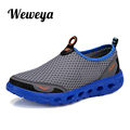 Weweya Men Shoes Super Light Mesh Shoes High Quality Breathable Slip on Summer Casual Shoes Size