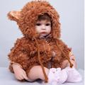 Exclusive 40cm Silicone Reborn Baby Doll Toy For Girls Brinquedos Soft Body Baby Reborn Newborn Girls