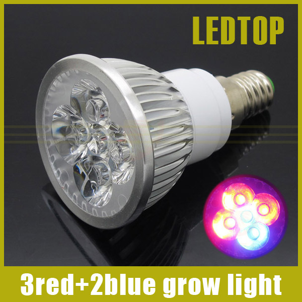Full spectrum LED Grow light 15W E14 lamp bulb Flower plant Hydroponics system AC 85-265V 3Red:2Blue - Shenzhen Ledtop Technology Co., Ltd. store