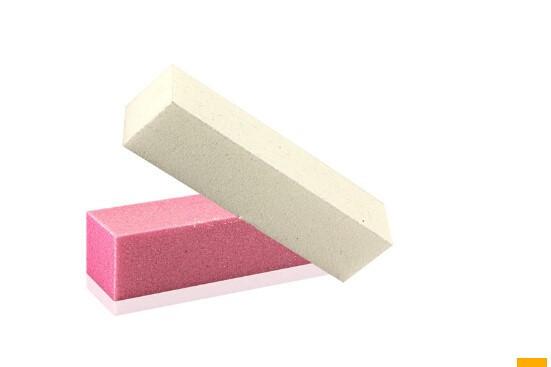 HABI 2pcs/lot Pink and White New Nail Polish Art Buffer Buffing Sanding Files Block Nail File Tool(China (Mainland))