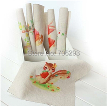 Buy Hand dyed 6Assorted Cotton Linen Printed Quilt Fabric DIY Sewing Patchwork Home Textile Decor 20x20cm cute rabbit for $11.59 in AliExpress store