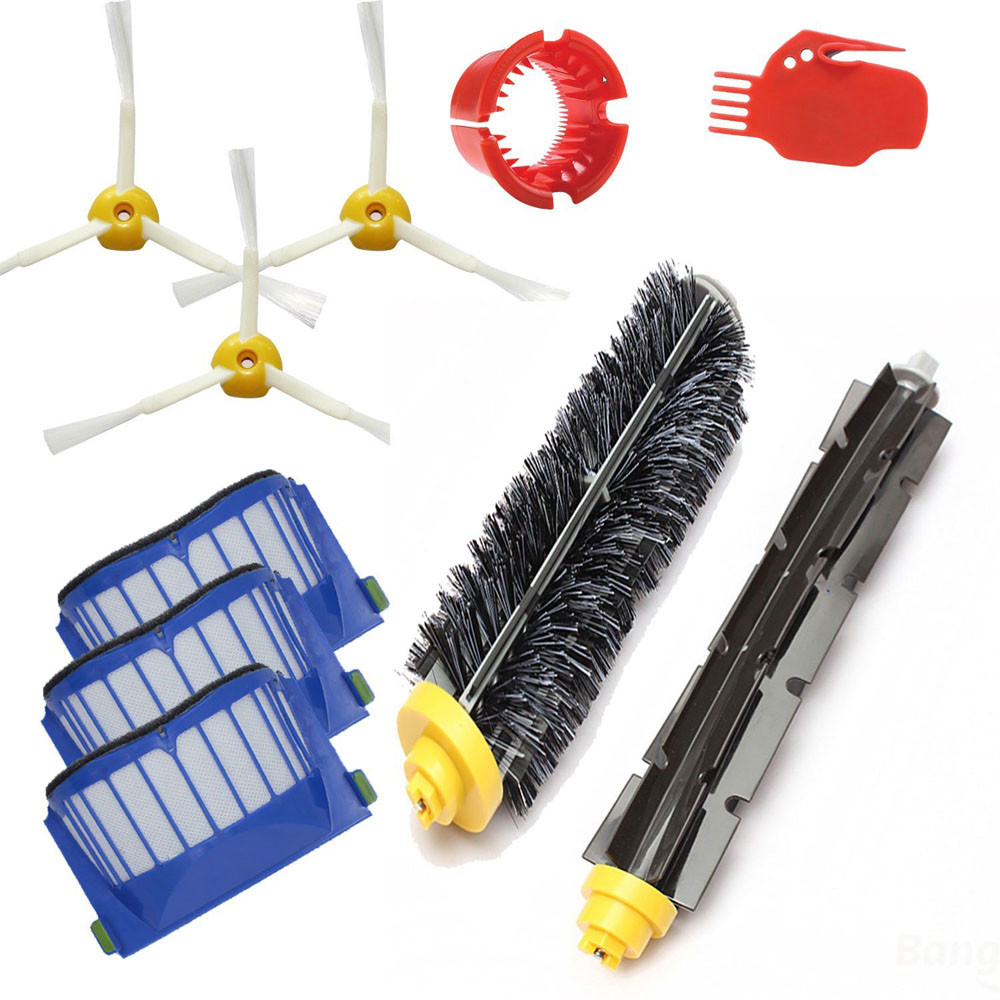 9pcs/lot Cleaning Tool Brushes Replacement Kits High-Performance For iRobot Roomba 650 Vacuum Cleaning Robots accessory parts(China (Mainland))