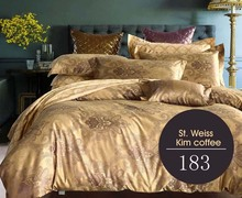 New Luxury Brand Gold satin jacquard 4Pcs bedding sets bedclothes set sheets duvet cover Pillowcases King queen full size (China (Mainland))