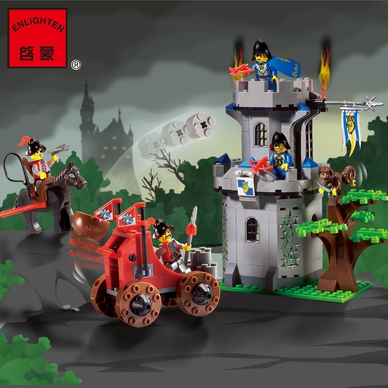 262pcs Hot Sale Castle Fortress Ancient Knight New Building Block Minifigures Kid Toy Gift Compatible Legoelied