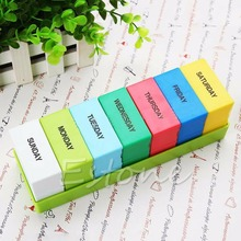 7 Days Weekly Storage Colorful Container Organizer Case Pill Medicine Box Holder(China (Mainland))