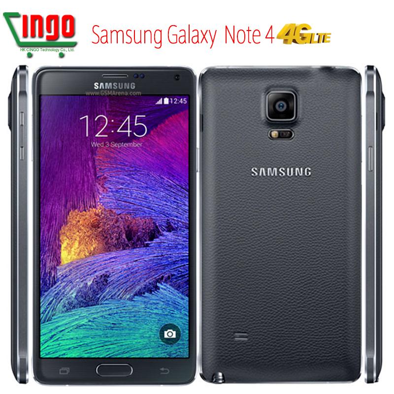 """100% Original Samsung Galaxy Note 4 Samsung N910U N910F 4G LTE1440 x 2560 5.7"""" 16GB 3GB RAM NFC WLAN Qualcomm Snapdragon 805(China (Mainland))"""