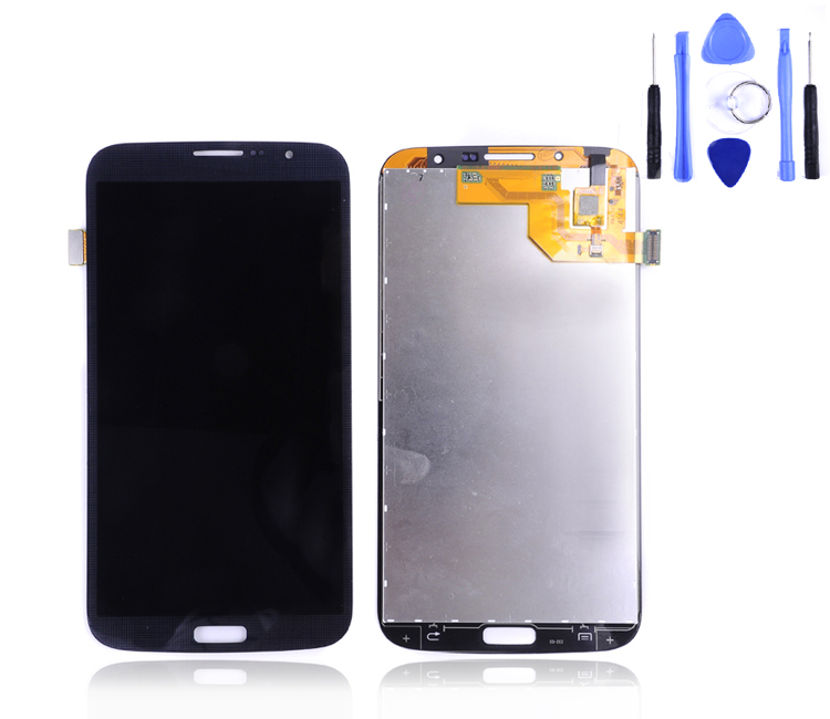 100% Tested Samsung Galaxy Mega 6.3 I9200 Lcd Display Touch Screen Digitizer Assembly I9205 LCD Black/white Free Ship+tool - guangzhoubellean trade ltd Company store