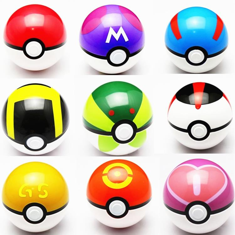 9pcs/set 7cm Pokemon Pokeball ABS Figures Japanese Hot Anime Pokemon PokeBall Toys Cosplay Collections Gifts #F(China (Mainland))