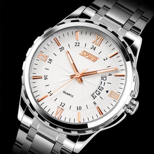 Steel Watch Reloj Hombre Relogio M2007 skone skeleton dress watch men top brand luxury leather mens automatic watches relogio masculino reloj hombre montre homme xfcs