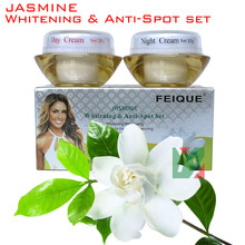 2014 New Arrival FEIQUE jasmine whitening and remove spot anti freckle cream 20g+20g crazy promotion face care(China (Mainland))