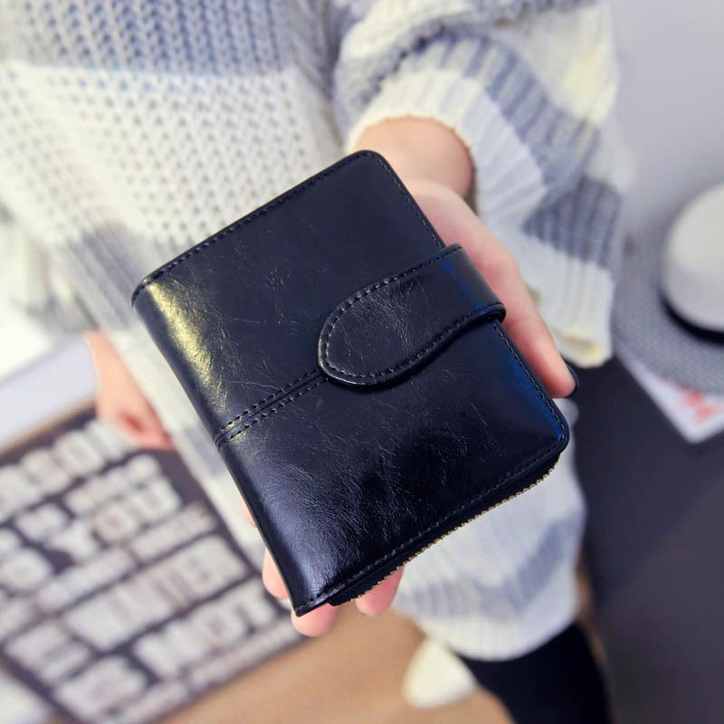 2015 New Fashion Genuine Leather Womens Short Wallets Purse High Quality Women Ladies Casual Clutch Cash Purse Monederos SMB199<br><br>Aliexpress