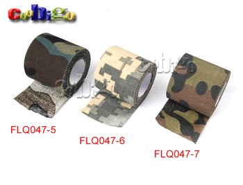 1 Roll U Pick 5M*4.5CM Adhesive Duct Tape Camouflage Waterproof Hunting Camping Stealth Tape Wraps #FLQ047-5/6/7