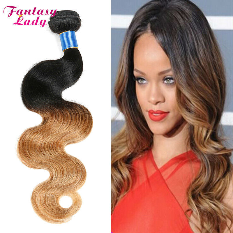 Hot Sale 7A Brazilian Virgin Hair Body Wave Ombre Hair Extensions 4pcs/Lot Brazilian Hair Weave Bundles Ombre Brazilian Hair