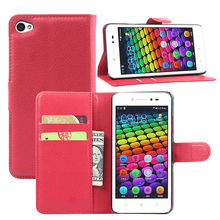 Lichee Pattern Wallet Stand Leather Flip Case Cover for Lenovo S90 Case
