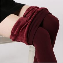 2016 Autumn Winter Fashion Explosion Models Plus Thick Velvet Warm Seamlessly Integrated Inverted Cashmere Leggings Warm Pants(China (Mainland))