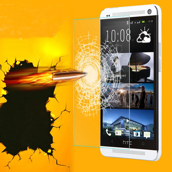 For HTC M7 Tempered Glass Protector Clear Screen Film For HTC ONE M7 Glass Screen Protector Front Protective Film Phone Guard