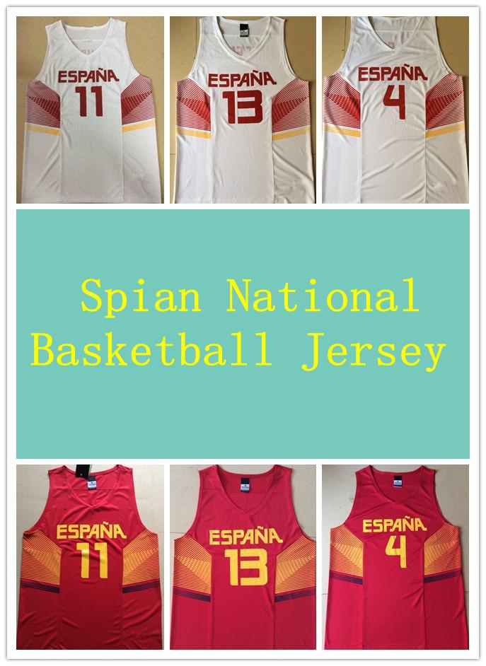Free Shipping Pau Gasol Marc Gasol Ricky Rubio 2014 Team Spain Basketball Jersey NAVARRO Sport Shirt Fernandez Espana Baloncesto(China (Mainland))