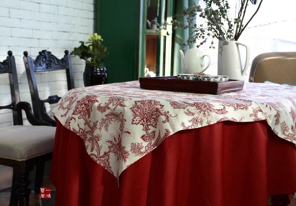 Top red table cloth cotton cloth tablecloths coffee can be a gentle and delicate as silk linen cotton(China (Mainland))