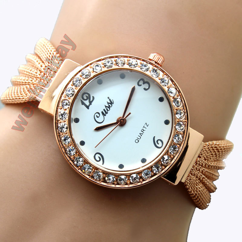 2016 Hot Sale Luxury stainless steel Women bracelet Quartz wrist watch fashion diamond dial female Bangle Watch Relogio Feminino(China (Mainland))