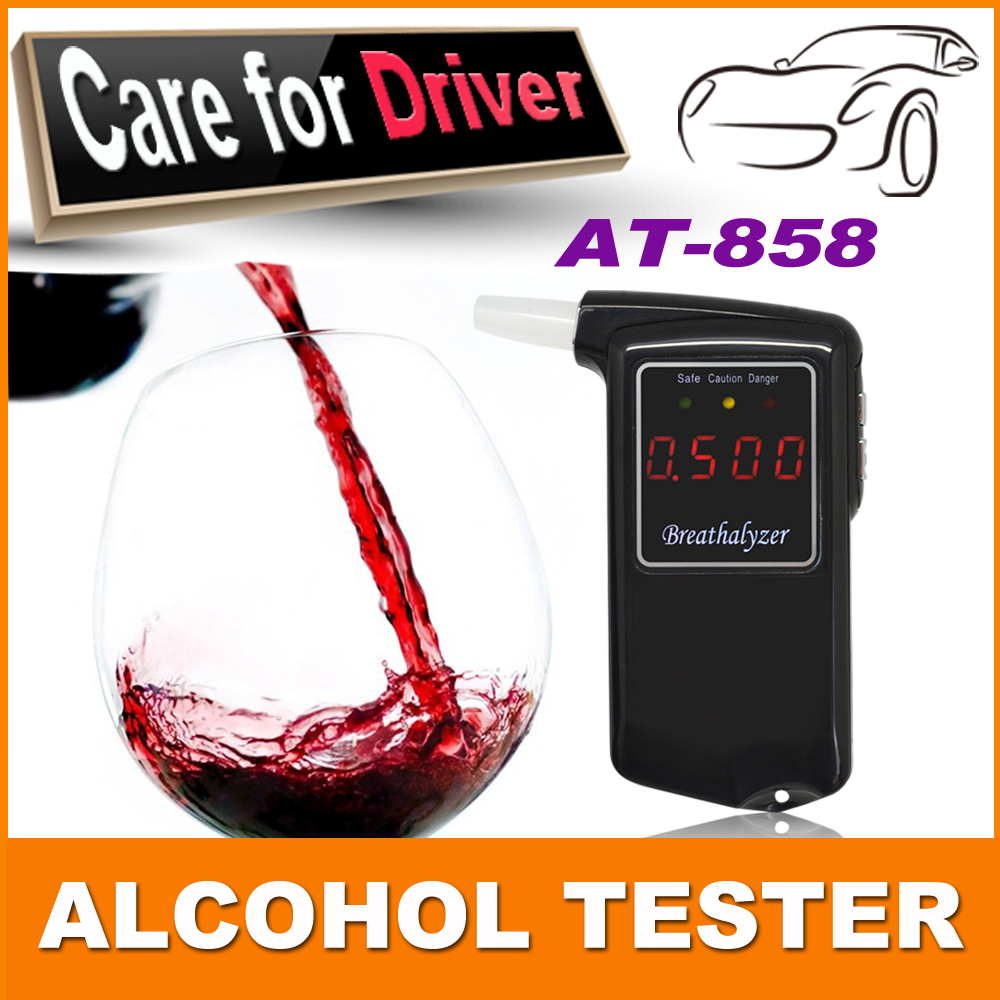 2015 Newest high accuracy Prefessional Police Digital Breath Alcohol Tester Breathalyzer AT858(China (Mainland))