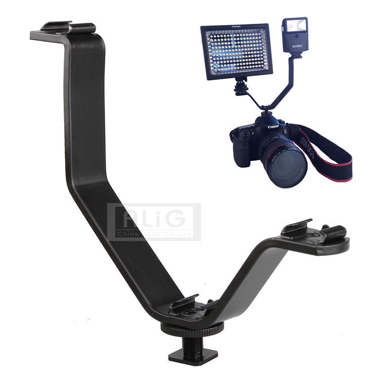 DSLR Camera flash stand hot shoe adapter microphone ...
